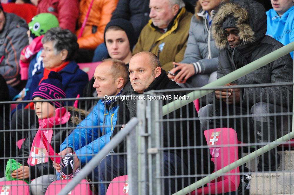 Pascal DUPRAZ - Expulse en tribune - 07.12.2014 - Evian Thonon / Lyon - 17eme journee de Ligue 1 -<br />Photo : Jean Paul Thomas / Icon Sport