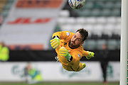 Josh Lillis finger tip save  during the EFL Sky Bet League 1 match between Plymouth Argyle and Rochdale at Home Park, Plymouth, England on 28 October 2017. Photo by Daniel Youngs.