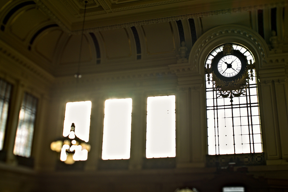 Interior, Hoboken train station, Hoboken, New Jersey, US