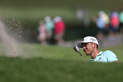 September 21, 2018 - Atlanta, Georgia, United States - Xander Schauffele hits out of a greenside bunker on the 9th green during the second round of the 2018 TOUR Championship. (Credit Image: © Debby Wong/ZUMA Wire)