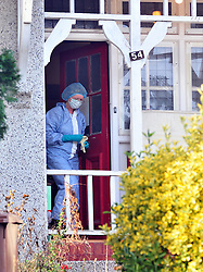 © Licensed to London News Pictures. 05/01/2016<br /> Police forensics officers at the  property.<br /> Sian Blake's home in Erith,Kent has turned into a crime scene today (05.01.2016) with officers from the Met's Homicide and Major Crime Command leading the search for the missing family.<br /> Police teams at the home of missing EX-EastEnders actress SIAN BLAKE who has been missing along with her Boyfriend and two sons since early December 2015.<br /> (Byline:Grant Falvey/LNP)