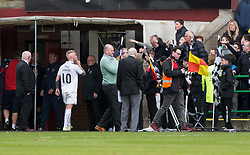 Falkirk's Craig Sibbald leaves the pitch at the end. Dunfermline 1 v 2 Falkirk, Scottish Championship game played 22/4/2017 at Dunfermline's home ground, East End Park.