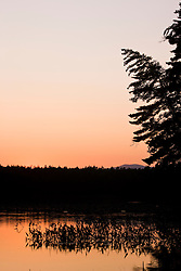 After sunset at White Lake State Park in Tamworth, New Hampshire.