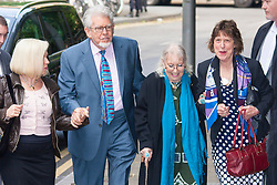 London, June 2nd 2014. Entertainer Rolf Harris arrives at Southwark Crown Court where his trial on 12 charges of indecent assault against 4 girls aged 7 - 19, continues.