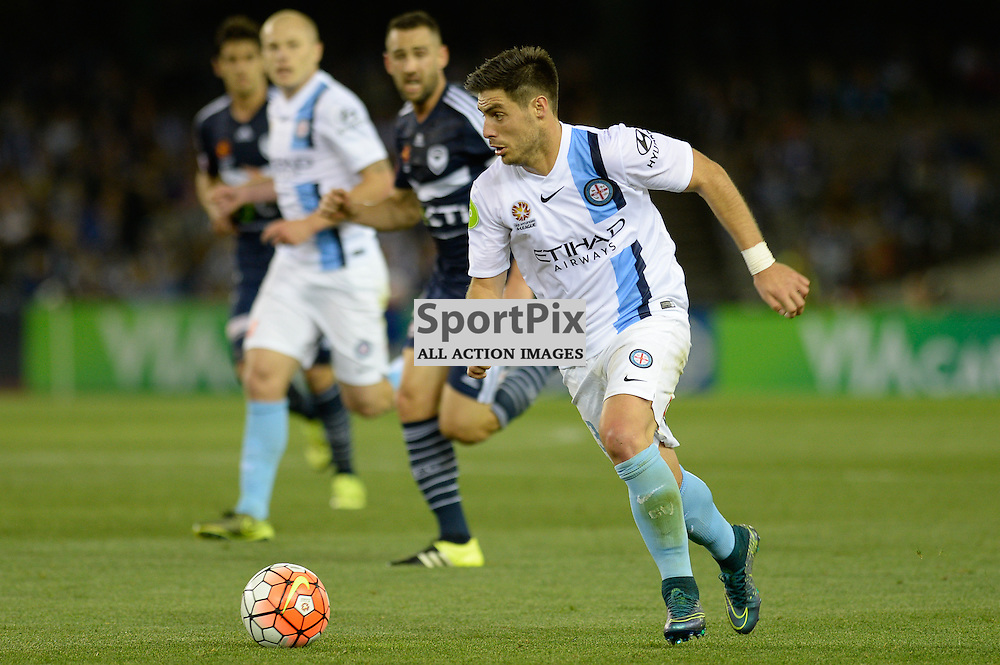 "Bruno Fornaroli of Melbourne City - Hyundai A-League - October 17th 2015 - ROUND 2- Melbourne Victory FC v Melbourne City FC in the first derby for the 2015 season with a 3:2 win to Victory on the 90"" - © Mark Avellino 