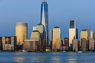 Lower Manhattan Skyline from Jersey City, NJ, Manhattan, New York City, New York, USA