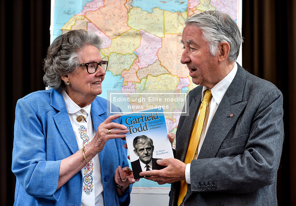 Author Susan Woodhouse launched her biography of former Rhodesian Prime Minister Garfield Todd along with former Liberal leader and Presiding officer of the Scottish Parliament Lord David Steel, who was a friend of the Southern African politician.<br /> <br /> © Dave Johnston/ EEm