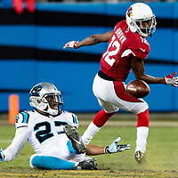 Carolina Panthers defensive back Robert McClain (27) Arizona Cardinals wide receiver John Brown (12)