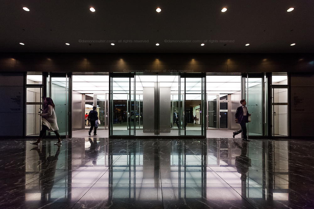 An entrance to the shopping and exhibition area under Tokyo Mistown Complex in Roppongi , Tokyo, Japan. Friday October 28th 2016