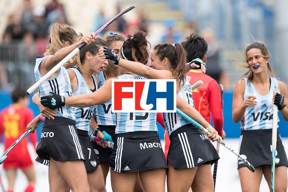 AUCKLAND - Sentinel Hockey World League final women<br /> Match id 10294<br /> 04 Argentina v China.<br /> Foto: goal celebration..<br /> WORLDSPORTPICS COPYRIGHT FRANK UIJLENBROEK