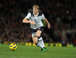 Roman Pavlyuchenko in action during the Barclays Premier League match between Manchester United and Tottenham Hotspur at Old Trafford on October 30, 2010 in Manchester, England.