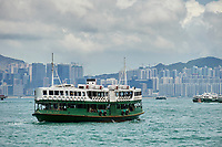 Star Ferries boats crossing the Harbour Hong Kong Hong Kong August 2008