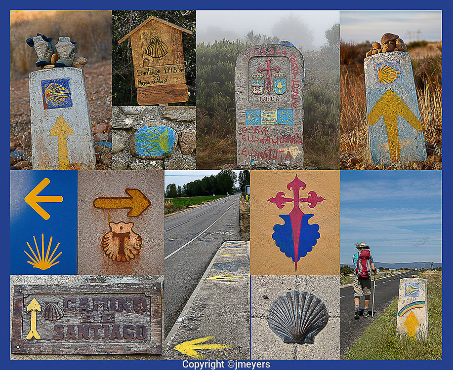 The yellow arrow and shell are the official symbols of the Camino