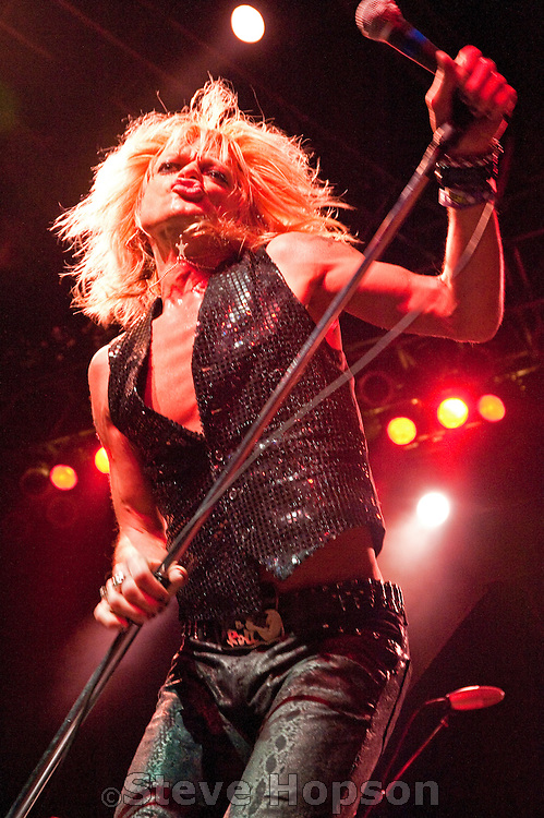 Michael Monroe performs at the Austin Music Hall during the South by Southwest Music Conference, Austin Texas, March 17, 2010. MICHAEL MONROE has long been at the forefront of breaking music barriers. The Finnish musician and multi-instrumentalist rose to fame as the singer for HANOI ROCKS and has served as the frontman for many all-star collaborations including GUNS 'N ROSES and DEMOLITION 23 with Little Steven.  The band features bassist SAMI YAFFA who has played with a remarkable variety of bands including Hanoi Rocks, New York Dolls and Joan Jett & the Blackhearts, and guitarist GINGER who has dazzled audiences over the world with his band The Wildhearts. Also on guitar is STEVE CONTE, the New York Dolls master fretman who has played with Willy DeVille and his own bands The Crazy Truth, Crown Jewels and Company of Wolves.