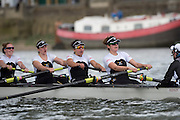 Putney, London, Pre Boat Race Fixture, <br /> Oxford University Women's Boat Club {OUWBC} vs Molesey Boat Club, over the River Thames, Championship Course Putney to Mortlake Sunday 28/02/2016.  [Mandatory Credit; Patrick White/Intersport-images]<br /> <br /> Oxford on Surrey, Crew Cox – Morgan Baynham-Williams, Stroke – Lauren Kedar, 7 – Maddy Badcott, 6 – Anastasia Chitty, 5 – Elo Luik, 4 – Ruth Siddorn, 3 – Joanneke Jansen, 2 – Emma Spruce, Bow – Emma Lukasiewicz<br /> <br /> Molesey on Middlesex, Crew Cox – Henry Fieldman, Stroke – Helen Roberts, 7 – Gabby Rodriguez, 6 – Vickie Watts, 5 – Rebecca Edwards, 4 – Aimee Jonckers, 3 – Beccy Girling, 2- Georgie Grant, Bow – Lucy Primmer