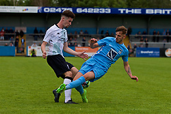 NUNEATON, ENGLAND - Saturday, July 29, 2017: Liverpool's captain Corey Whelan and Coventry's City's Chris Camwell during a pre-season friendly between Liverpool and Coventry City at the Liberty Way Stadium. (Pic by Paul Greenwood/Propaganda)