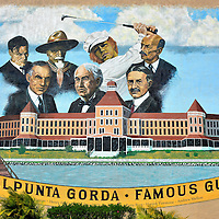 Punta Gorda Hotel Mural in Punta Gorda, Florida<br />