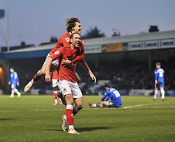 Bristol City's Scott Wagstaff celebrates his goal with Bristol City's Luke Freeman - Photo mandatory by-line: Dougie Allward/JMP - Mobile: 07966 386802 - 28/12/2014 - SPORT - football - Gillingham - Priestfield Stadium - Bristol City v Gillingham - Sky Bet League One