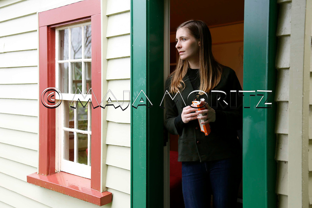 Eleanor Catton at the Michael King Writers' Centre in Devonport, Auckland, New Zealand
