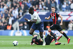 Moussa Sissoko of Tottenham Hotspur on the ball - Mandatory by-line: Arron Gent/JMP - 13/04/2019 - FOOTBALL - White Hart Lane - London, England - Tottenham Hotspur v Huddersfield Town - Premier League