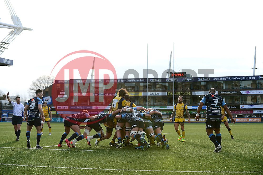 Cardiff Blues v Worcester Warriors - Mandatory by-line: Dougie Allward/JMP - 04/02/2017 - RUGBY - BT Sport Cardiff Arms Park - Cardiff, Wales - Cardiff Blues v Worcester Warriors - Anglo Welsh Cup