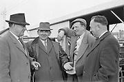Dublin Cattle Market. Some of the regular livestock exporters (l-r): William McQuaid, Tom Connolly, George Allerton, and Seamus Connolly..25.04.1962