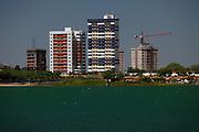 Juazeiro_BA, Brasil.<br /> <br /> Vista de obras na cidade de Juazeiro (BA), com o Rio Sao Francisco em primeiro plano.<br /> <br /> View of Juazeiro Bahia with the Sao Francisco river.<br /> <br /> Foto: LEO DRUMOND / NITRO