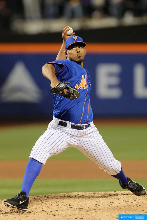 NEW YORK, NEW YORK - APRIL 11: Pitcher Antonio Bastardo, New York Mets, pitching during the Miami Marlins Vs New York Mets MLB regular season ball game at Citi Field on April 11, 2016 in New York City. (Photo by Tim Clayton/Corbis via Getty Images)