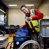 Nederland, Amsterdam , 20 april 2013..Melle Koch leidinggevende vrijwilliger bij het rode Kruis zal ook ingezet worden tijdens de Kroningsdag op 30 april..Foto:Jean-Pierre Jans