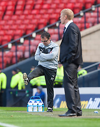 Hibernian's manager Pat Fenlon..Hibernian 4 v 3 Falkirk, William Hill Scottish Cup Semi Final, Hampden Park..©Michael Schofield..
