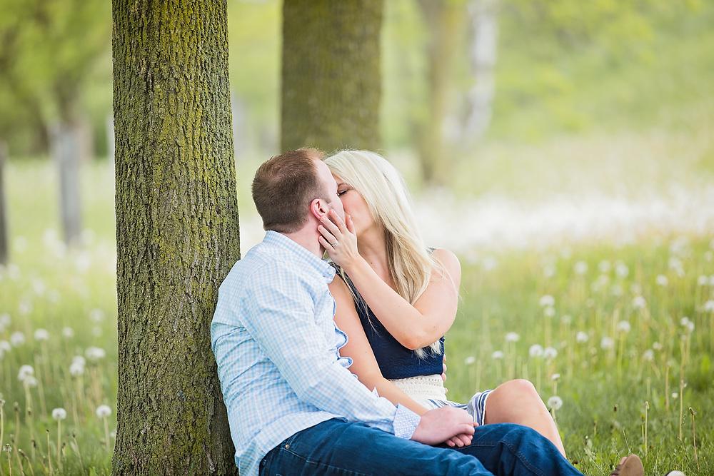 Sweet Spring Hespeler Engagement Session
