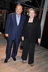 BARBARA TAYLOR-BRADFORD and ROBERT BRADFORD at a party to celebrate the publication of her  autobiography - The World According to Joan, held at the British Film Institute, South Bank, London SE1 on 8th September 2011.