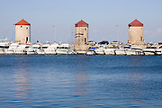 Greece, Rhodes, Rhodes City, The old town of Rhodes, The Mandraki harbour