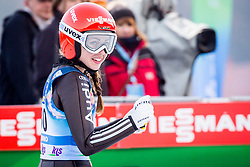 Juliane Seyfarth (GER) during 1st Round at Day 1 of FIS Ski Jumping World Cup Ladies Ljubno 2018, on January 27, 2018 in Ljubno ob Savinji, Ljubno ob Savinji, Slovenia. Photo by Ziga Zupan / Sportida