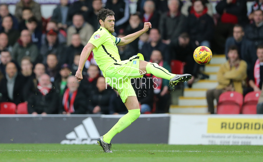 Brighton captain and central defender, Gordon Greer (3) during the Sky Bet Championship match between Brentford and Brighton and Hove Albion at Griffin Park, London, England on 26 December 2015.