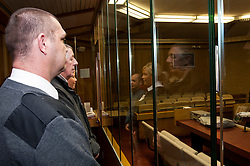 Defendant in the dock with security staff in Southampton Crown Court