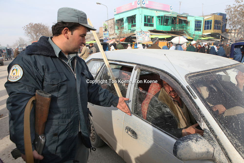 Afghan police searching for terrorists in Kunduz.