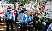 Conservative Party Conference, ICC, Birmingham, Great Britain <br /> Day 1<br /> 7th October 2012 <br /> <br /> Badger protest outside conference centre <br /> <br /> <br /> Photograph by Elliott Franks<br /> <br /> Tel 07802 537 220 <br /> elliott@elliottfranks.com<br /> <br /> ©2012 Elliott Franks<br /> Agency space rates apply