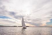 Papoose, Herreshoff S Class, sailing sea trials.