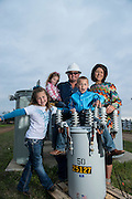 Choctaw Electric lineman Norvin Graham and his family for Oklahoma Living Magazine