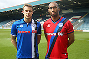 Rochdale FC new kit 2016/17 season, Ollie Lancashire, Calvin Andrew during the Sky Bet League 1 match between Rochdale and Swindon Town at Spotland, Rochdale, England on 30 April 2016. Photo by Daniel Youngs.