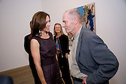 Crown Princess Mary of Denmark; Sheena Wagstaff, Chief curator Tate Modern; Per Kirkeby. Per Kirkeby Opening Reception and Dinner. Tate Modern. 16 June 2009.