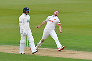 Jamie Porter of Essex bowling during the first day of the Specsavers County Champ Div 1 match between Hampshire County Cricket Club and Essex County Cricket Club at the Ageas Bowl, Southampton, United Kingdom on 5 April 2019.