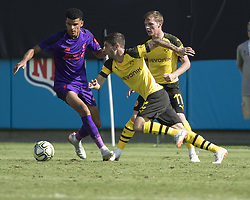 July 22, 2018 - Charlotte, North Carolina - Charlotte, North Carolina - July 22, 2018: Bank of America Stadium, Liverpool vs Borussia Dortmund, International Champions Cup.  Final score Borussia Dortmund 3, Liverpool 1. (Credit Image: © Steven Limentani/ISIPhotos via ZUMA Wire)