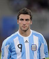 FUSSBALL   INTERNATIONAL   Testspiel  in  Doha  17.11.2010 Argentinien - Brasilien Gonzalo HIGUAIN (Argentinien)