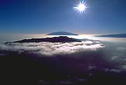 Hualalai & Mauna Kea mountains, Island of Hawaii, Hawaii, USA<br />