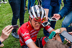 Jasper STUYVEN from Belgium of Trek-Segafredo finishing 5th after the 2018 Paris-Roubaix race, Velodrome Roubaix, France, 8 April 2018, Photo by Thomas van Bracht / PelotonPhotos.com | All photos usage must carry mandatory copyright credit (Peloton Photos | Thomas van Bracht)