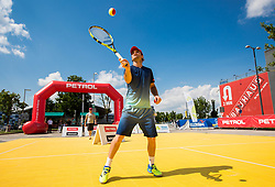 "Blaz Kavcic at Fan tennis event for kids named ""Play tennis"" by Tenis Slovenija, on May 26, 2018 in BTC - Millenium centre Ljubljana, Slovenia. Photo by Vid Ponikvar / Sportida"