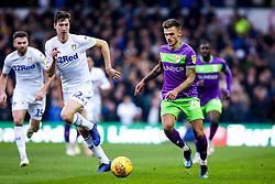 Jamie Paterson of Bristol City takes on Aapo Halme of Leeds United - Mandatory by-line: Robbie Stephenson/JMP - 24/11/2018 - FOOTBALL - Elland Road - Leeds, England - Leeds United v Bristol City - Sky Bet Championship