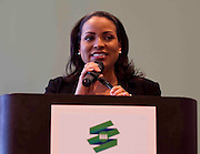 Charlotte Bobcat's sideline reporter Stephanie Ready emcee's the 2011 ACC Legends Banquette held at the Terrace Greensboro Coliseum Complex  in Greensboro, North Carolina.  (Photo by Mark W. Sutton)